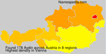 Surname Aydin in Austria