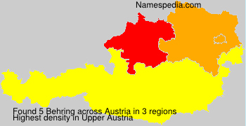 Surname Behring in Austria