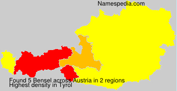 Surname Bensel in Austria