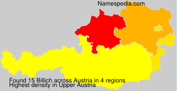 Surname Billich in Austria