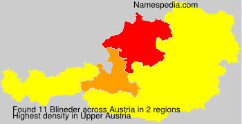 Surname Blineder in Austria