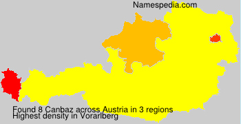 Surname Canbaz in Austria