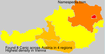 Surname Canic in Austria