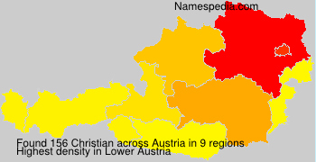 Surname Christian in Austria