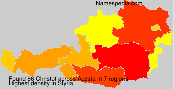 Surname Christof in Austria