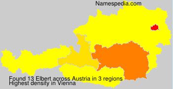 Surname Elbert in Austria