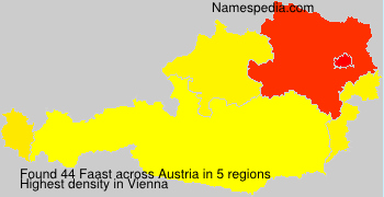 Surname Faast in Austria