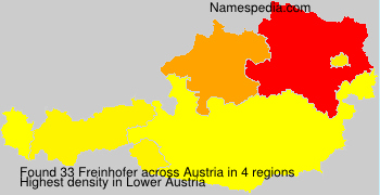 Surname Freinhofer in Austria