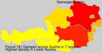 Surname Gamperl in Austria