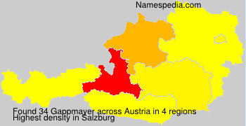 Surname Gappmayer in Austria