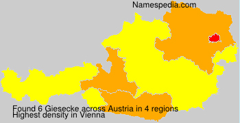 Surname Giesecke in Austria