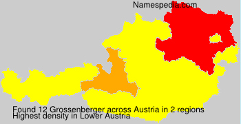 Surname Grossenberger in Austria