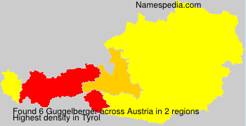 Surname Guggelberger in Austria