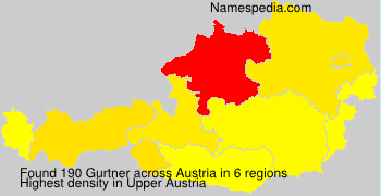 Surname Gurtner in Austria
