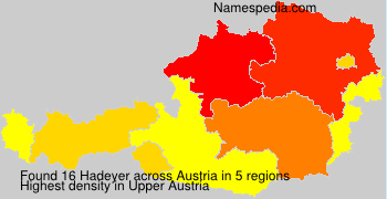 Surname Hadeyer in Austria