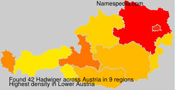 Surname Hadwiger in Austria