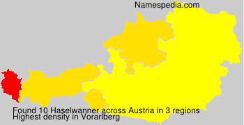 Surname Haselwanner in Austria