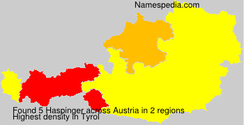 Surname Haspinger in Austria