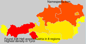 Surname Hell in Austria