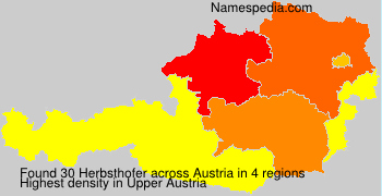 Surname Herbsthofer in Austria