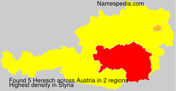 Surname Heresch in Austria