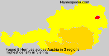 Surname Hernuss in Austria