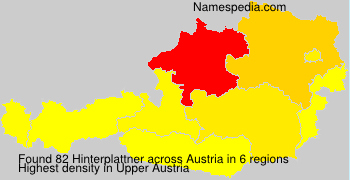 Surname Hinterplattner in Austria