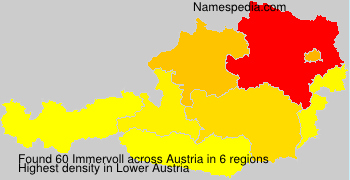 Surname Immervoll in Austria