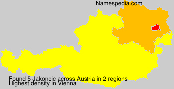 Surname Jakoncic in Austria