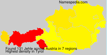 Surname Jehle in Austria