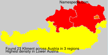 Surname Kliment in Austria