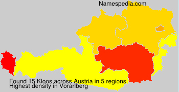 Surname Kloos in Austria