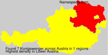Surname Konigswenger in Austria