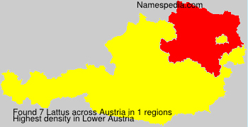 Surname Lattus in Austria
