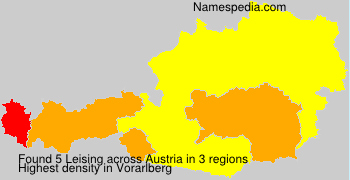 Surname Leising in Austria