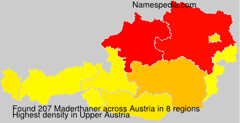 Surname Maderthaner in Austria