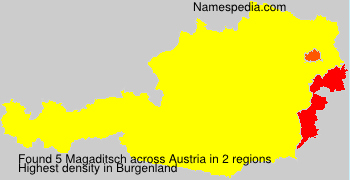 Surname Magaditsch in Austria