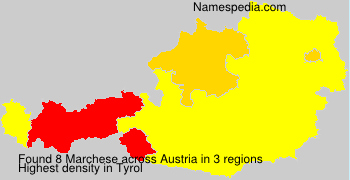 Surname Marchese in Austria