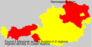 Surname Messirek in Austria