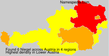 Surname Niegel in Austria