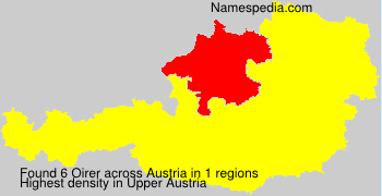 Surname Oirer in Austria