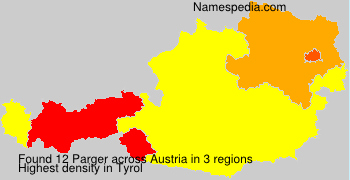 Surname Parger in Austria