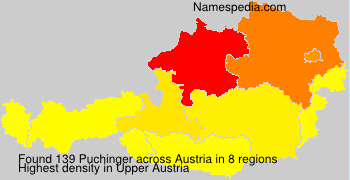 Surname Puchinger in Austria