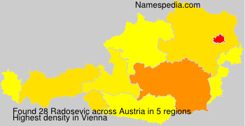 Surname Radosevic in Austria