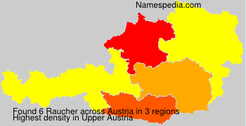 Surname Raucher in Austria