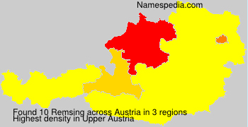 Surname Remsing in Austria