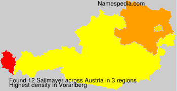 Surname Sallmayer in Austria