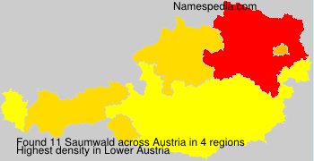 Surname Saumwald in Austria