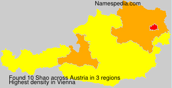 Surname Shao in Austria
