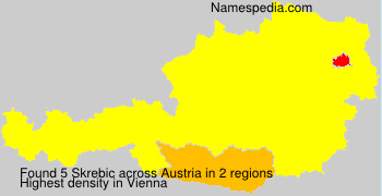 Surname Skrebic in Austria